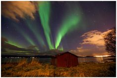Hyggelig aften ved Telegrafbukta i Tromsø #aurora_borealis #aurora