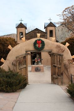 This is the entrance to El Santuario in Chimayo New Mexico.  This small church was built by my Great Great Great Great Great grandfather, Don Bernardo Abeyta.  The dirt in the church is said to have healing powers for the sick and disabled.