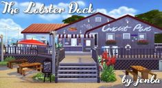 The Lobster Dock is a casual seafood restaurant with plenty of indoor and outdoor seating as well as a bar. When I built it originally in Sims it was inspired by a real life restaurant in Maine. Sims 4 Restaurant, Seafood Restaurant, Types Of Communities, Sims Building, Building Ideas, Outdoor Seating, Outdoor Decor, Restaurants, The Sims 4 Download