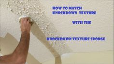In this video I'll be demonstrating how to apply all purpose joint compound with a Knockdown Texture Sponge on a vaulted ceiling repair. The ceiling repair i. Knockdown Texture Walls, Drywall Texture, Ceiling Texture, Workshop Layout, Workshop Ideas, Garage Workshop, Wall Texture Design, Drywall Ceiling, Drywall Repair