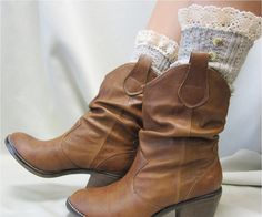 Nordic Lace  short boot  lace socks 3 tweed colors cowboy boot socks by Catherine Cole Studio ruffled lace SLX1BL Made  in usa