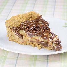 Para quem vai almoçar pensando na sobremesa!  Torta de Banana Doce de Leite com cobertura de Chocolate!A receita está disponível no facebook e no blog.  #SaldeFlor #Receitas #Sobremesa #brculinary