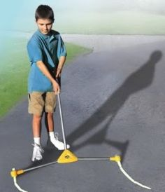 Fun little toy for kids to create chalk roads. (Or for you to do it with fewer backaches)