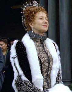 Helen Mirren in Elizabeth I.   *note: this dress was also worn by Natalie Dormer as Anne Boleyn on the Tudors.