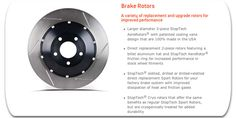 StopTech Brake Rotors. A variety of replacement and upgrade rotors for improved performance. #carpornracing #stoptech