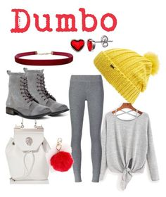 """Dumbo disneybound💛❤️"" by geeklychic13 on Polyvore featuring Maison Scotch, Belk Silverworks, ATM by Anthony Thomas Melillo, Philipp Plein, Avoce and Humble Chic"