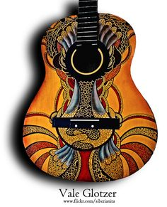 Custom-painted guitar | Valeria Glotzer/siberianita via Flickr