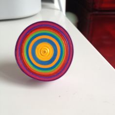 A personal favourite from my Etsy shop https://www.etsy.com/uk/listing/237950671/multi-coloured-bulls-eye-rings-cocktail