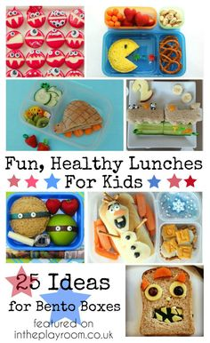 25 Fun and healthy lunch ideas that are ideal for Bento Boxes