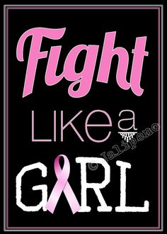 Fight Like a Girl 5x7 Print INSTANT DOWNLOAD by Jalipeno, $4.00 - Printable Quote Gift Wall Art Office Home Decor Breast Cancer Awareness Pink Ribbon