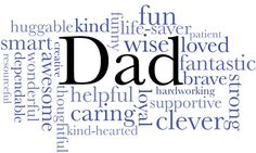 Dad word cloud print by TheArtfulWord on Etsy