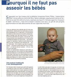 Why do not we sit babies Source: Michèle Forestier To read: The free motricity … what is it? New study demonstrates once again the importance … - Bebe Baby, Baby Love, Baby Information, Montessori Education, New Mums, Kids Health, Children Health, Occupational Therapy, Kids And Parenting