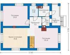 Проект дома из пеноблока 57-99 :: Интернет-магазин Plans.ru :: Готовые проекты домов Plane, Floor Plans, How To Plan, Projects, House, Casa De Campo, Modern, Airplane, Haus