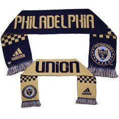 adidas Philadelphia Union Checker Bars Scarf - Navy Blue/Gold