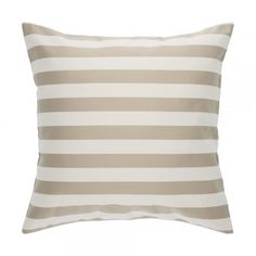 "Classic Striped Multicolor Beige and White Decorative Cushion / Throw Pillow  QUENTIN ECRU 20""X20  #decorativepillow #throwpillow #cushion #cushioncover  #livingroom #bedroom #homedecor #white #beige #striped #pillow"