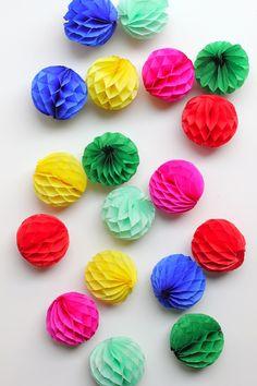 Honeycomb Ball Ornaments