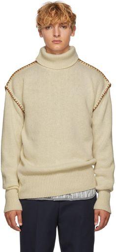 Loewe - White Blanket Stitch Turtleneck a49a19ed3