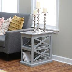 Belham Living Hampton Chair Side Table - Gray