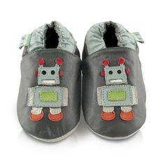 Snuggle Feet – Suaves Zapatos De Cuero Del Bebé robot (18-24 meses)