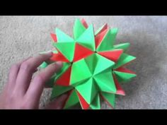 Transforming Origami Spike Ball - YouTube