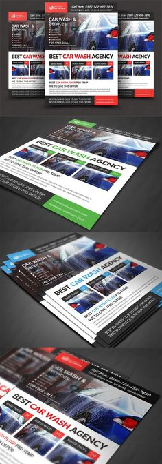 Car Wash Flyer  Car Wash Ai Illustrator And Flyer Template