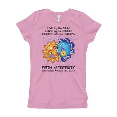 Girls Solar Eclipse Princess T Shirt - Cinderella & Charming - Live Love Dance Path of Totality August 21, 2017