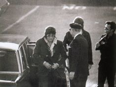 Arriving to provide a blood sample in the paternity suit filed by Patricia Parker on October 21, 1971