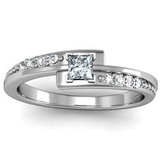 Promise Ring :) Princess Cut Ring with Accents
