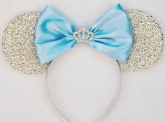 Hey, I found this really awesome Etsy listing at https://www.etsy.com/listing/507439262/cinderella-ears-silver-minnie-mouse-ears