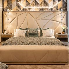 From textiles to surfaces, we can create an elegant space and give you the chance to choose every part of it. Discover what Sicis can do for your Home. Bed Headboard Design, Bedroom Bed Design, Bedroom Furniture Design, Headboards For Beds, Bed Furniture, Modern Bedroom, Bedroom Wall, Bedroom Decor, Bed Back Design