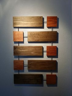 Cy Wall Sculpture Wood Wall Art Mid-Century Modern by CaseModern