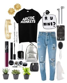 """R U mine?"" by bellafawxo on Polyvore featuring Levi's, 3.1 Phillip Lim, Essie, Gucci, NARS Cosmetics, New Look, Stella & Dot, Master & Dynamic, DANNIJO and music"