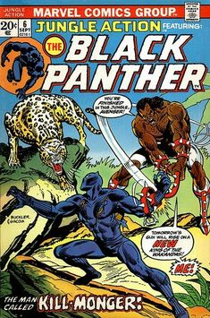 See Also See: The Black Panther Comic Books Category for a complete list., See: Black Panther for all the variations of the subject on the site., See: Black Panther for the main version of the subject. Avengers Comics, Archie Comics, Marvel Dc, Old Comics, Marvel Comic Books, Comic Books Art, Book Art, Black Panther Marvel, Black Panther Comic Books