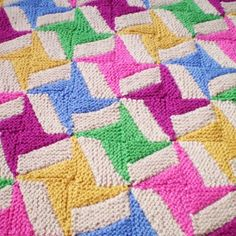 We Like Knitting: Double Spinning Star - Free Pattern
