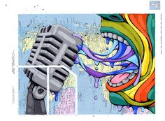 ric stultz 2013  I feel like spittin' on the mic and traveling the world - this piece captures that...