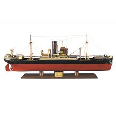 "CaptJimsCargo - 1897 Malacca Tramp Steamer Wooden Cargo Ship Model 26.75"",  (http://www.captjimscargo.com/authentic-models-home-decor/half-hull-models-clipper-tramp-steamer-ships/1897-malacca-tramp-steamer-wooden-cargo-ship-model-26-75/) This 1897 Malacca Tramp Steamer cargo ship model is fully assembled and ready for display (not a kit)."
