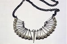 how to make a pin necklace - Bing Images