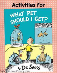 What Pet Should I Get Activities for Kindergarten or First Grade Classrooms