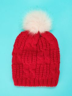 4 - Pom-Pom Decorated Beanie Hat - Hats   Gloves  gloves  hat 45b61cd20f8d