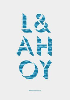 'L& AHOY', art print by Kerr Vernon  on artflakes.com