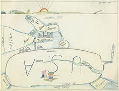 Saul Steinberg  The West Side  1973