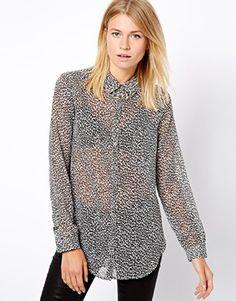 ASOS animal print blouse (for more animal prints -- http://chicityfashion.com/animal-prints/)