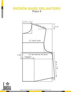 Manual de patronaje CMT - SENA Pattern Drafting Tutorials, Skirt Patterns Sewing, Sewing Doll Clothes, Sewing Dolls, Pattern Cutting, Pattern Making, Modelista, Sewing Basics, Basic Sewing