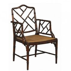 Chinese Chippendale Dining Chair Charlotte & Ivy  (4 of these in Brown)