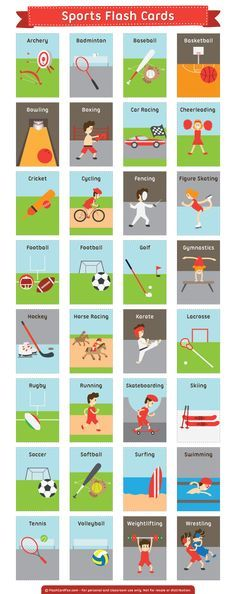 These are great for learning English sports w. These are great for learning English sports words (ESL). Sport English, English Tips, English Fun, English Study, English Class, English Words, Learn English, Learning English For Kids, Teaching English