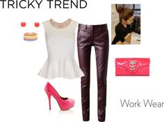 """""""Leather Love and Neon Pop"""" by kaitlinsmommy on Polyvore"""