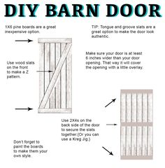 DIY Barn Door Instructions and Hardware