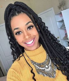 Top 60 All the Rage Looks with Long Box Braids - Hairstyles Trends Box Braids Hairstyles For Black Women, Braids For Black Women, African Braids Hairstyles, Black Braids, Braid Hairstyles, Goddess Hairstyles, Protective Hairstyles, Protective Styles, Pretty Hairstyles