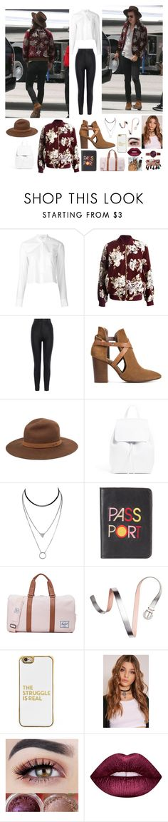 """Corrupted by Harry Prt. 7"" by mary-5so1ds ❤ liked on Polyvore featuring Helmut Lang, Sans Souci, Karen Millen, H London, rag & bone, Lizzie Fortunato, Herschel Supply Co., BaubleBar, Lime Crime and Jessica Carlyle"