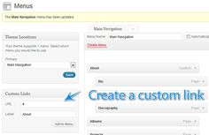 Create a navigation link that isn't clickable. Great for testing drop down menus when creating your site.